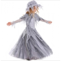 New Halloween Ghost Princess Bridal Flower Kids Ghost Festival Children's Witch Wear