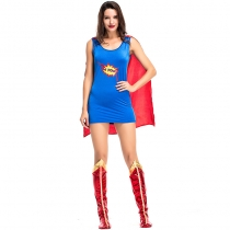 2018 new superwoman costume Exported to Europe and America game costume Halloween movie hero character stage suit