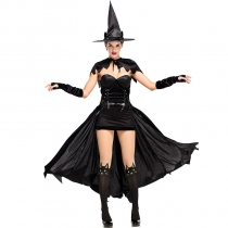 2018 New Halloween Carnival Party Party Costumes Playful Black Cat Witch Stage Performance Costume Cos