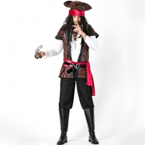 Halloween men's cosplay 2018 Jack Captain pirate suit Europe and America game uniforms stage costume