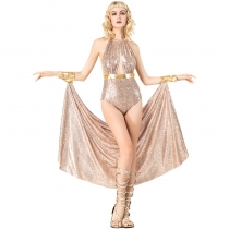 2018 new Halloween new female role-playing costume Greek goddess cosplay one-piece costume stage costume