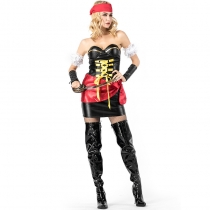 2018 new Halloween female pirate role playing tube top Pirate captain cosplay role playing stage costume