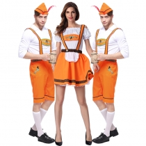 German Oktoberfest clothing khaki couple beer suit Halloween stage performance clothing