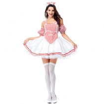 2019 Halloween new rave party beer maid costume Cosplay maid service stage costume