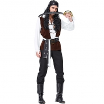 2019 thousand holy carnival party costumes navigator print pirate pirate cosplay costume stage suit