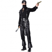 2019 new Halloween carnival Bearded one-eyed pirate Party performance show suit Voyager costumes
