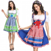 New European and American game uniforms Oktoberfest clothing beer restaurant service student clothing maids two-color
