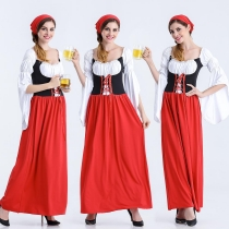 European and American game uniforms beer festival long beer restaurant service student clothing maid wear