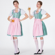 German Oktoberfest Bavarian traditional beer dress dress cotton embroidered maid costume maid costume