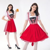 New Bavarian national costume, German Oktoberfest clothing restaurant, waiter clothing