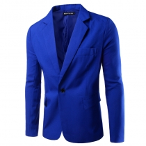 New one buckle men's fashion slim suit pure color suit Korean men's suit