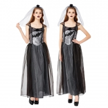 2019 New Halloween Party Cosplay Black Hell Ghost Bridal Costume Party Stage Costume