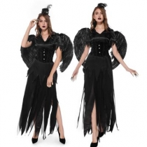 2019 New Dark Angel Black Angel Dress Halloween Party Masquerade Theme Party Costume