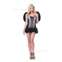 Dark Angel Europe and America Game Uniform Cosplay Black Angel Costume Uniform Temptation Night Field DS Costume