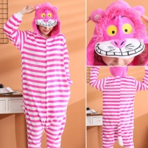 2019 new flannel Cheshire Cat animal conjoined pajamas cartoon men and women wholesale lovers clothes coral autumn and winter