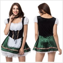 Halloween costume adult maid maid wear waiter uniform beer festival activity cosplay beer girl