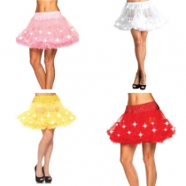 LED lights hot sale explosions mesh tutu with light stage lighting show TUTU skirt