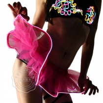 Explosion models LED skirt multicolor flashing luminous tutu sexy carnival luminous stage performance clothing