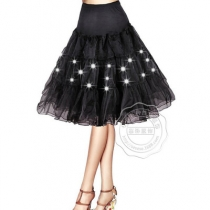 Super size explosion models luminous pettiskirt sexy mesh long skirt LED lights multicolor stage skirt party skirt