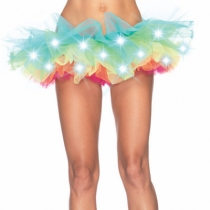 Explosion style luminous mesh tutu skirt stage LED light show TUTU skirt