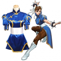 Street Fighter Chun Li COS children's dress cheongsam dress parent-child wear adult children company annual meeting school performance clothing cos