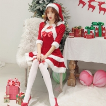 New Japan and South Korea Christmas costumes cute tube top small shawl Christmas costume stage costumes party clothes