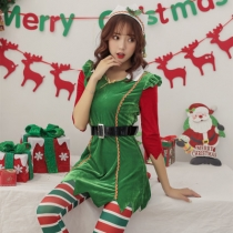 2019 new Christmas costume red green Christmas costume night field DS steel tube stage costumes