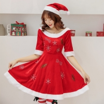2019 New Christmas Dresses Long Sleeve Christmas Shorts Rhinestones Christmas Dress Party Party Costumes