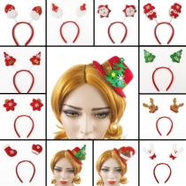Explosion models Christmas headband daily necessities decorative plush headband hair clips foreign trade hair accessories gift supplies