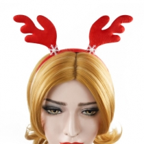 Explosion models Christmas decorations big red snowflakes antlers headbands fluffy cloth foreign trade head ornaments