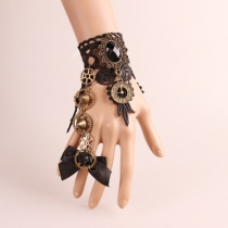 European and American fashion handmade jewelry retro bracelet with ring one lace clock mechanical jewelry series