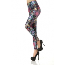 Spring and summer slim fashion stretch Slim digital print leggings