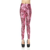 Europe and the United States Printed leggings Shenma digital print leggings