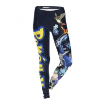 Elf treasure dream print ladies leggings Europe and the United States explosion models slim slim feet pants