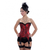 Corset new red European and American style sexy court corset corset