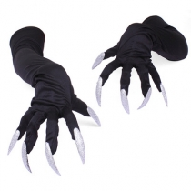 Satin wear ribbon etiquette gloves nightclub gloves wedding gloves performance gloves fun high quality satin ball