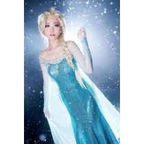 COS Halloween Foreign Trade Frozen Adult Dress Princess Aisha Stage Wedding Dress Dress