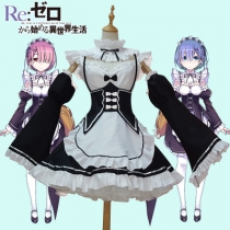 Life in a different world from scratch Rem Remram cosplay women's maid clothes maid outfit multi-size