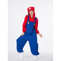 Halloween new cosplay red and green mario plumber game suit cartoon super mary suit