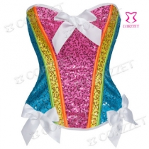 Fashion sequins covered with bows, European and American body shapers, corsets, lingerie