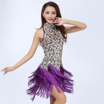 Latin sequin tassel costumes, stage costumes, adult stage costumes, square dance dance costumes