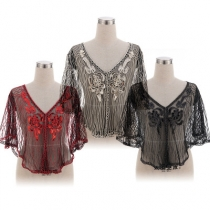 New creative sequin evening dress European and American dinner party dress shawl explosion models