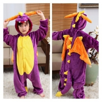 New autumn and winter children's cartoon one-piece pajamas flannel thickened toilet cute animal home costumes