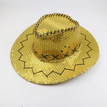 Stage sequined western cowboy hat outdoor travel leisure unisex sun hat summer cool rider hat
