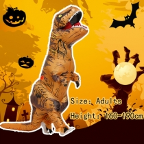 Halloween Tyrannosaurus Rex Dinosaur Inflatable Clothes Party Funny Photo Doll Valentine's Day Christmas Clothes Adult