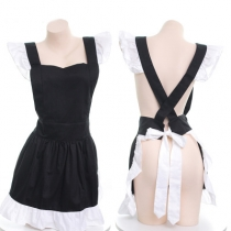 Japanese maid ruffled princess apron sexy maid sexy suit women's cute apron uniform performance clothing