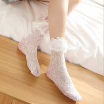 Lolita lace pile stockings Japanese lolita girl princess tube stockings women