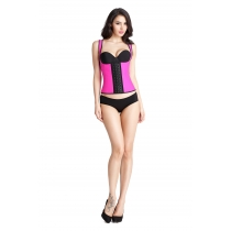 Three-layer 9 steel frame double-shoulder strap latex corset palace corset steel frame rubber corset