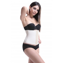 Hot sale latex smooth 25cm height shaping garment Rubber corset 9 steel bone rubber corset