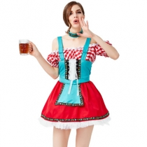 New German traditional Oktoberfest costume Bar party party costume Oktoberfest beer girl costume